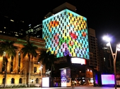 88 - Light show on Mercure Hotel during G20 conference