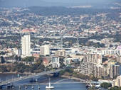 43 - Gabba Cricket Ground, Captain Cook Bridge and Riverside Apartments