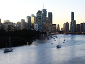 46 - Brisbane from Kangaroo Point at Twilight