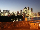 47 - Brisbane from Kangaroo Point at Twilight